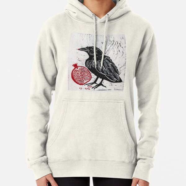 Raven and Pomegranate  Pullover Hoodie