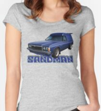 HZ Holden Sandman Panel Van - Windsor Blue Women's Fitted Scoop T-Shirt