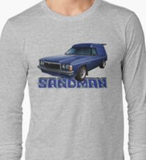 HZ Holden Sandman Panel Van - Windsor Blue Long Sleeve T-Shirt