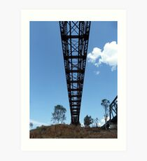 Under the bridge, Burdekin River Macrossan Art Print