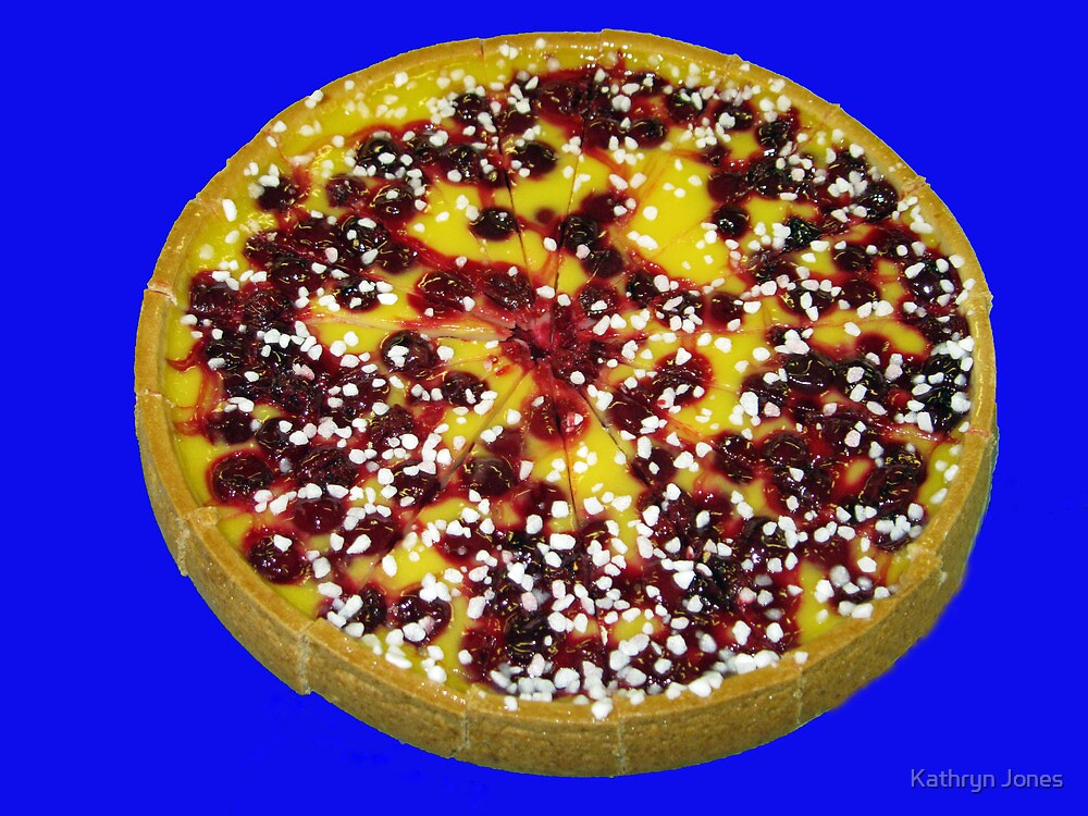 Mouth Watering Cherry and Custard Pie by Kathryn Jones