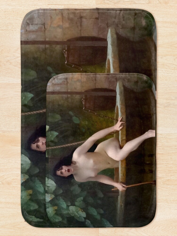 Alternate view of TRUTH COMING OUT OF HER WELL TO SHAME MANKIND - JEAN-LEON GEROME Bath Mat