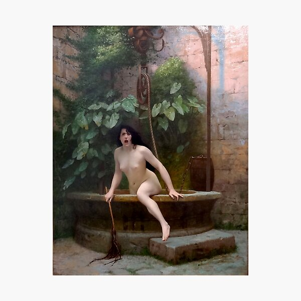 TRUTH COMING OUT OF HER WELL TO SHAME MANKIND - JEAN-LEON GEROME Photographic Print