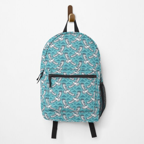 The Hawk's Flight_ Light cerulean Backpack