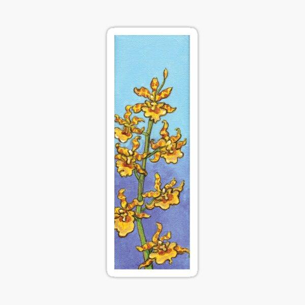 Yellow Oncidium Orchids Sticker