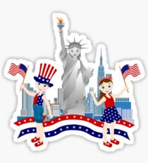 On Independence Day Sticker