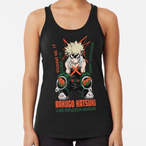 Bakugo Katsuki   Boku no hero academia Camiseta con espalda nadadora