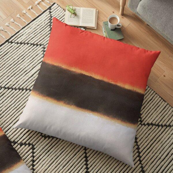 Mark Rothko Painting Style Art White Orange Black #2 Floor Pillow