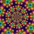 Colors on Purple Kaleidoscope by pjwuebker