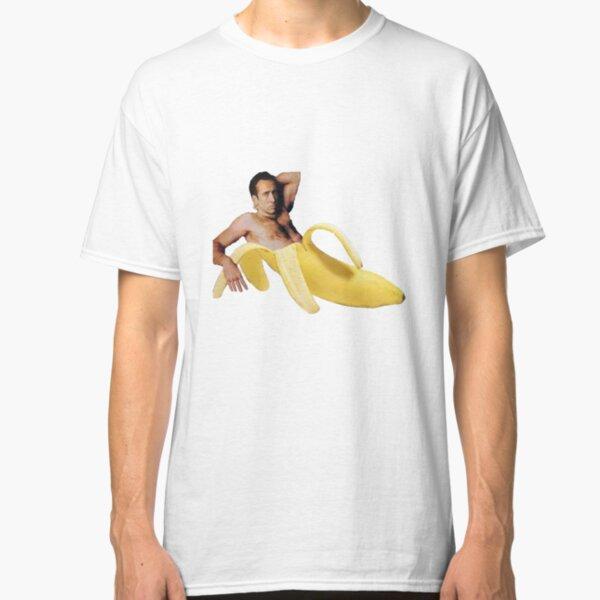 Nicolas Cage In A Banana - Original Yellow Classic T-Shirt