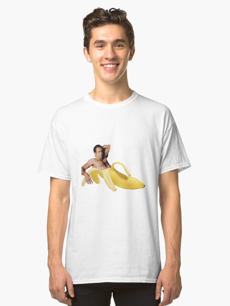 Nicolas Cage In A Banana Original Yellow Classic T Shirt By
