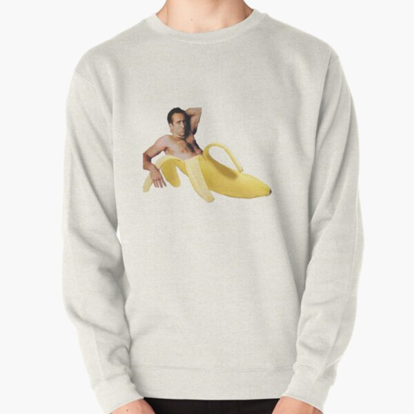 Nicolas Cage In A Banana - Original Yellow Pullover Sweatshirt
