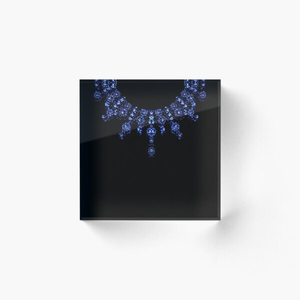 The Sapphire Necklace  Acrylic Block
