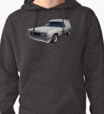 Illustrated HZ Holden Panel Van - White Pullover Hoodie