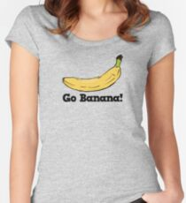 Go Banana! Women's Fitted Scoop T-Shirt