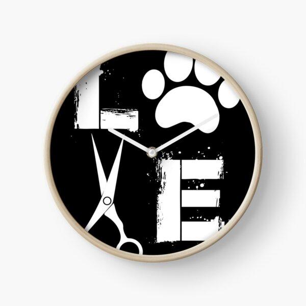 Dog Grooming Love  Clock