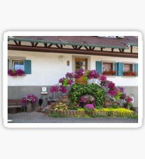 House and Flowers Sticker