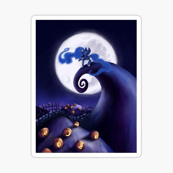 My Little Pony - MLP - Nightmare Before Christmas - Princess Luna's Lament Sticker