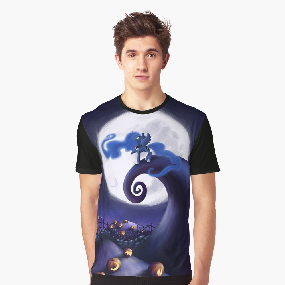 My Little Pony - MLP - Nightmare Before Christmas - Princess Luna's Lament Graphic T-Shirt Front