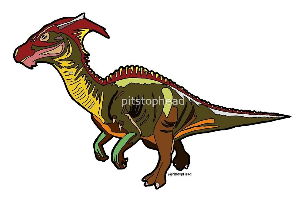PARA aka Parasaurolophus Dinosaur Designs by Pitstop Head by pitstophead