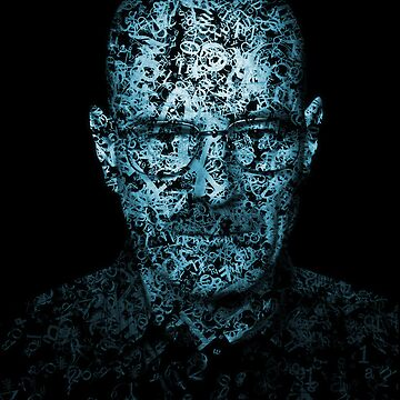 Walter White Typographic Portrait by Salonga