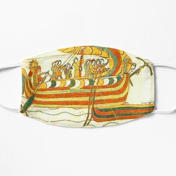 Bayeux Tapestry Viking Longship Normandy Art Flat Mask