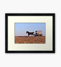Amish Commute Framed Print