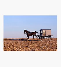 Amish Commute Photographic Print