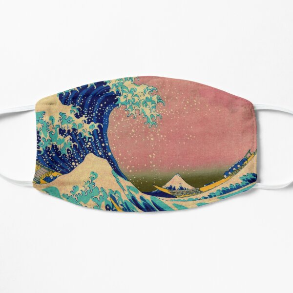 The Great Wave in Pink Japanese Art Small Mask