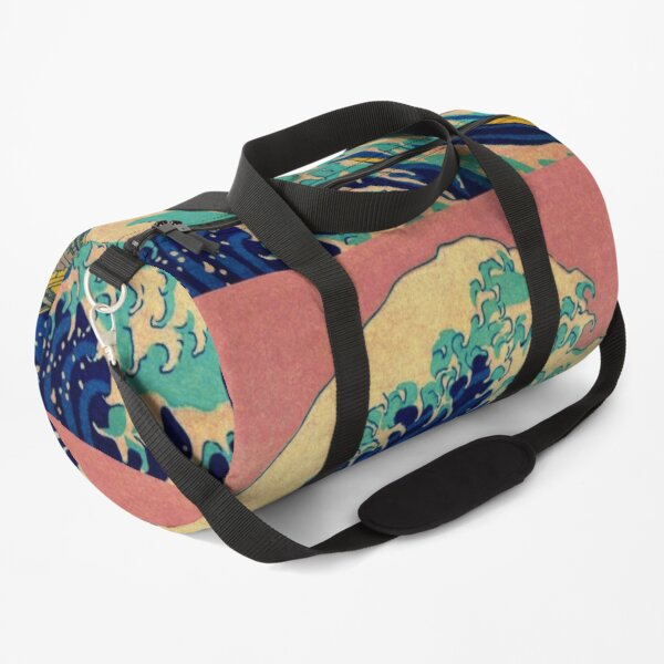 The Great Wave in Pink Japanese Art Duffle Bag