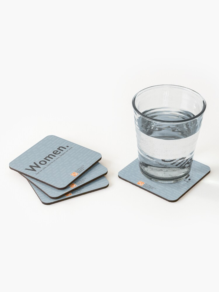 Alternate view of Voices in Blue Coasters (Set of 4)