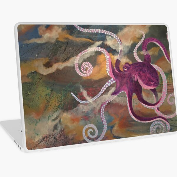 Octopus in the Deep Laptop Skin
