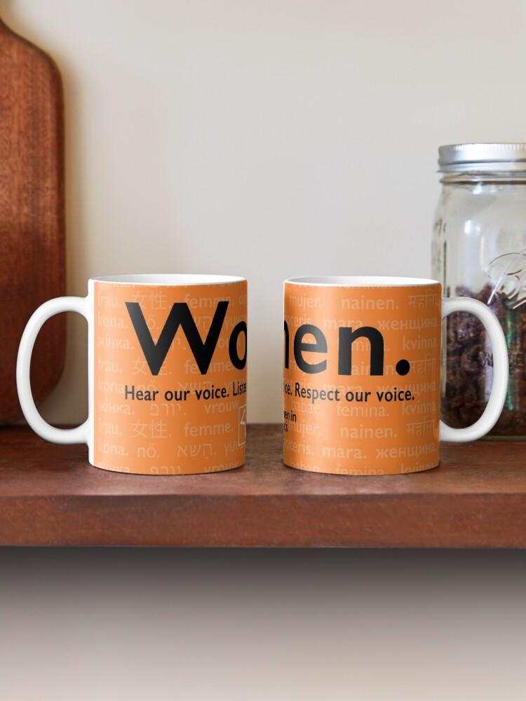 Alternate view of Voices in Orange Mug