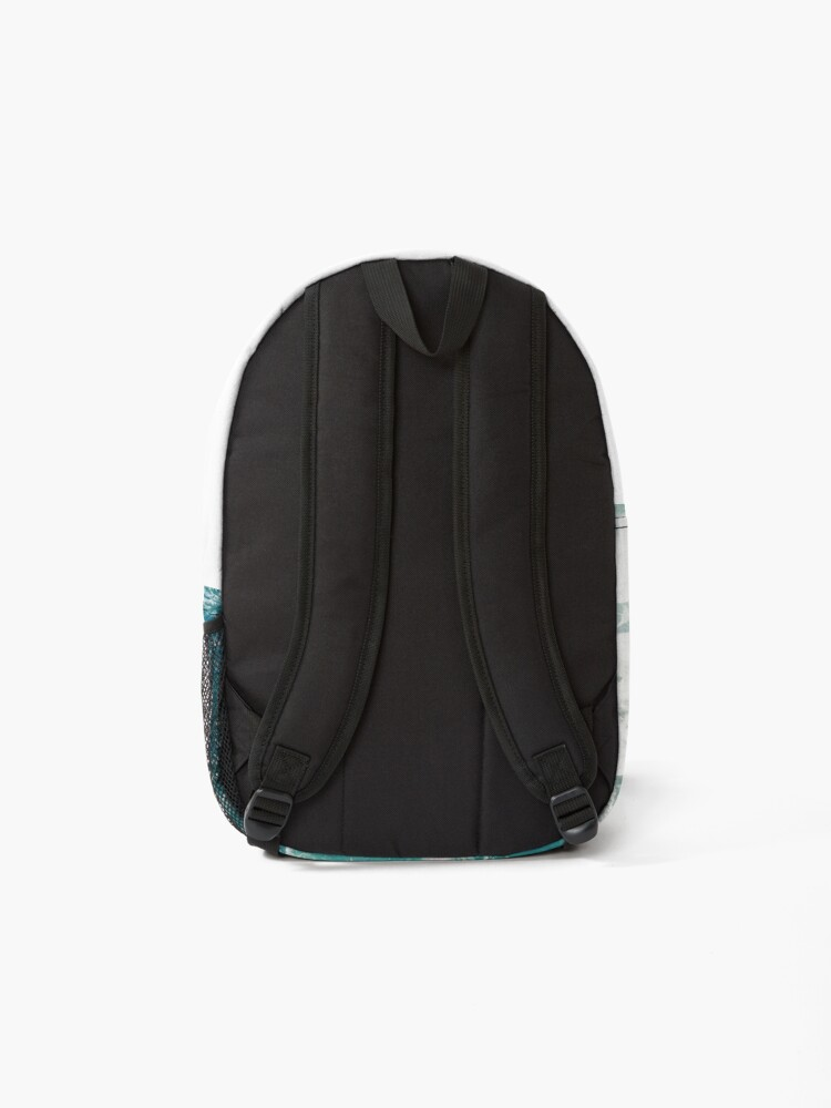 Alternate view of Blue Ocean Waves  Backpack