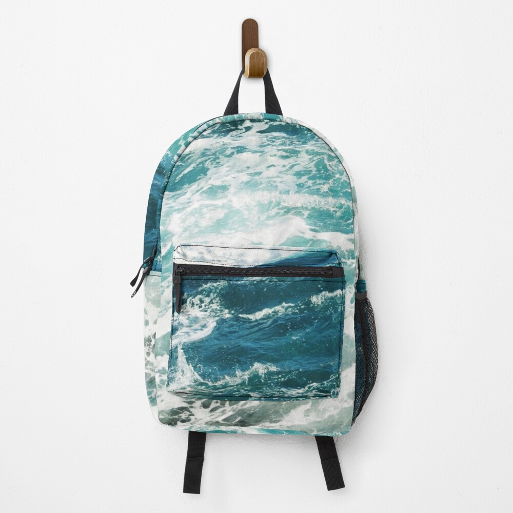 Blue Ocean Waves  Backpack