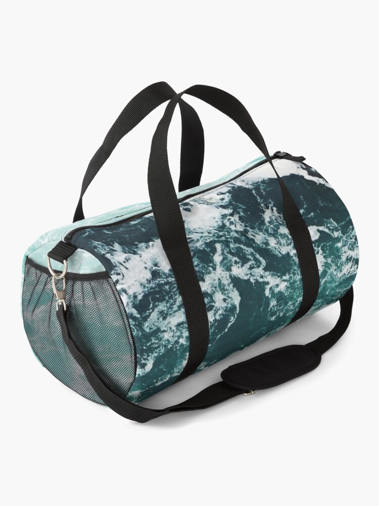 Alternate view of Blue Ocean Summer Beach Waves Duffle Bag
