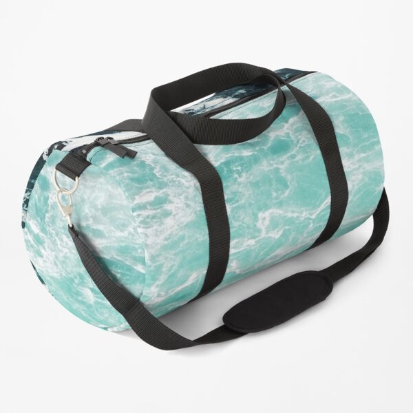 Blue Ocean Summer Beach Waves Duffle Bag