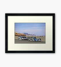 Racing on the West Coast Framed Print