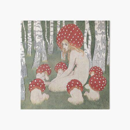 MOTHER MUSHROOM WITH HER CHILDREN - EDWARD OKUN Art Board Print