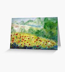 Poppy Field (Monet Interpretation) - Wall Art Greeting Card