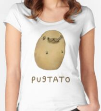 Pugtato Women's Fitted Scoop T-Shirt
