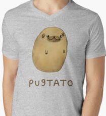 Pugtato Men's V-Neck T-Shirt