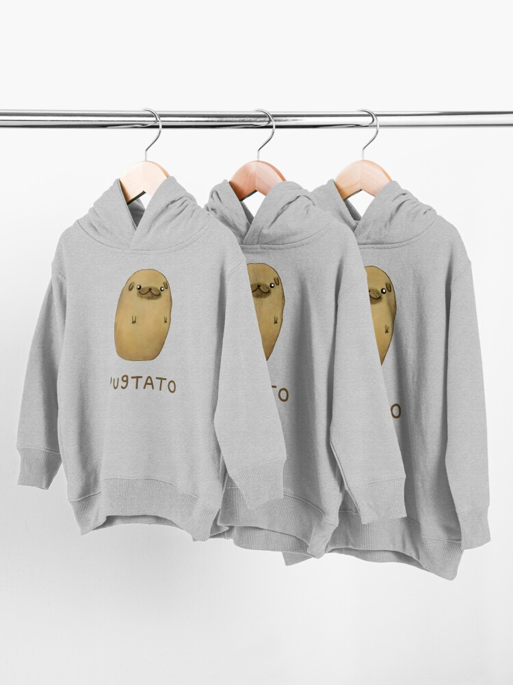 Alternate view of Pugtato Toddler Pullover Hoodie