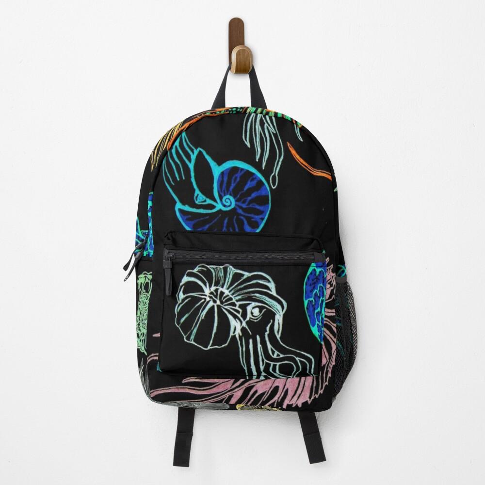 Ammonites-Black Backpack