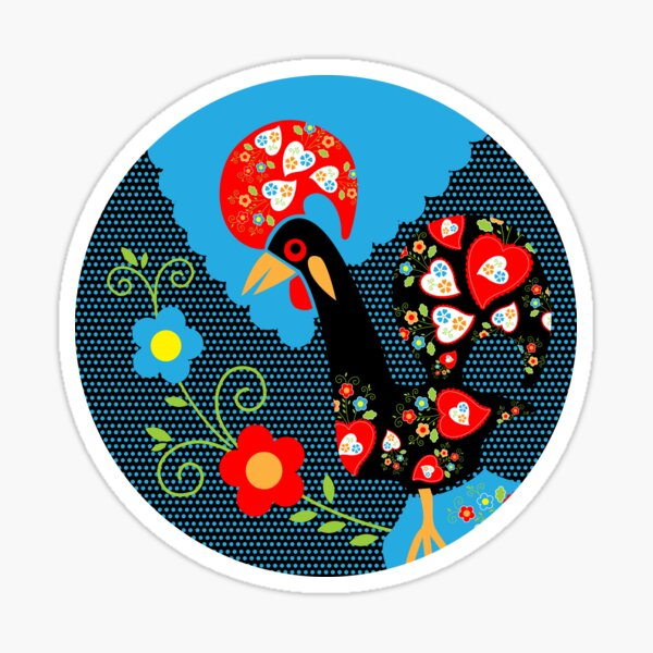 Rooster from Portugal Sticker