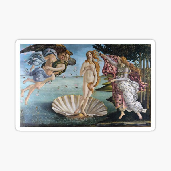 The birth of Venus Sandro Botticelli Sticker
