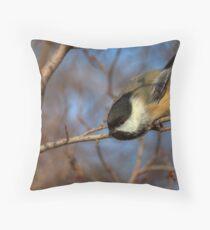 Chickadee Launch Throw Pillow