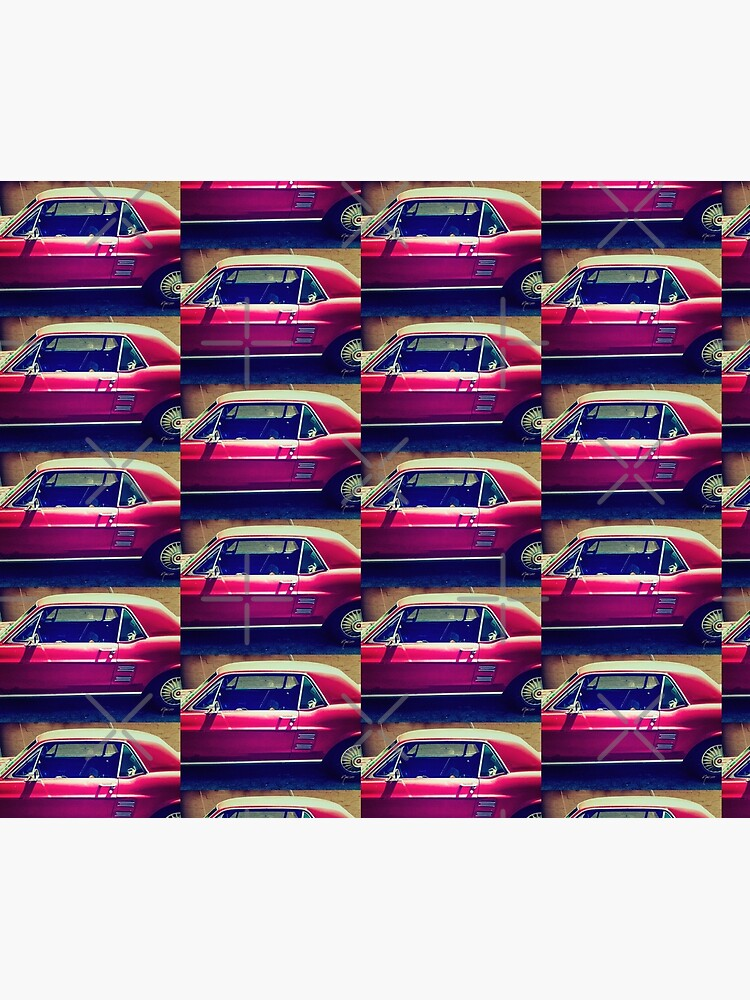 1533 Vintage rustic Ford Mustang red car by neptuneimages