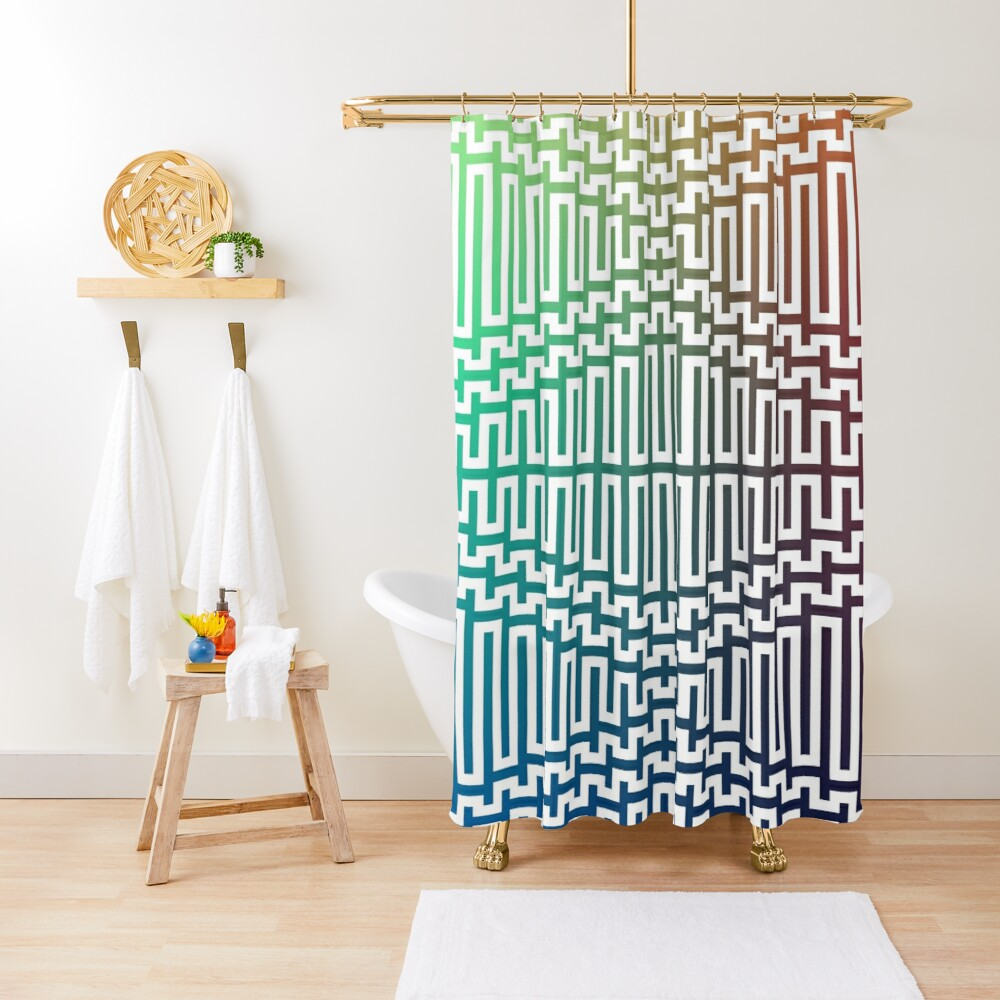 Scientific, Artistic, and Psychedelic Prints on Awesome Products Shower Curtain