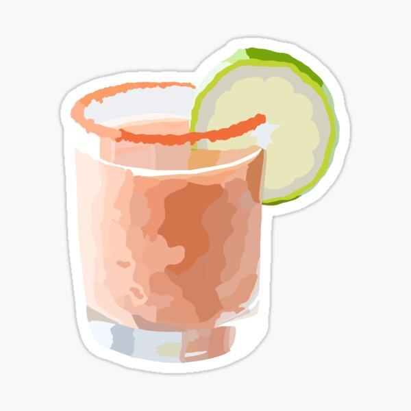 Strawberry Lime Drink Sticker